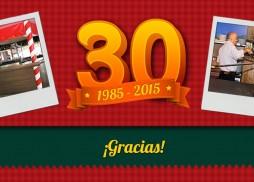 Pizzería Plaza 30 años